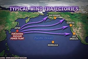 Japanese Fukushima radiation wind trajectories (www.accuweather.com)
